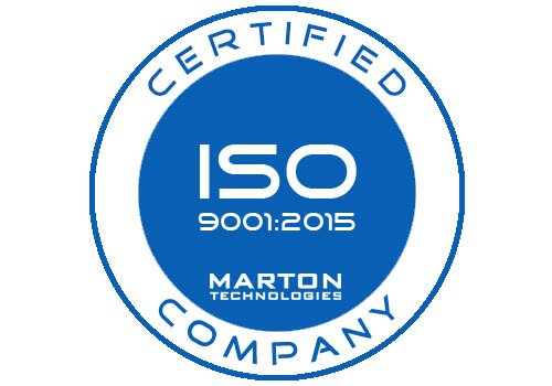 Marton received ISO 9001:2015 Certification