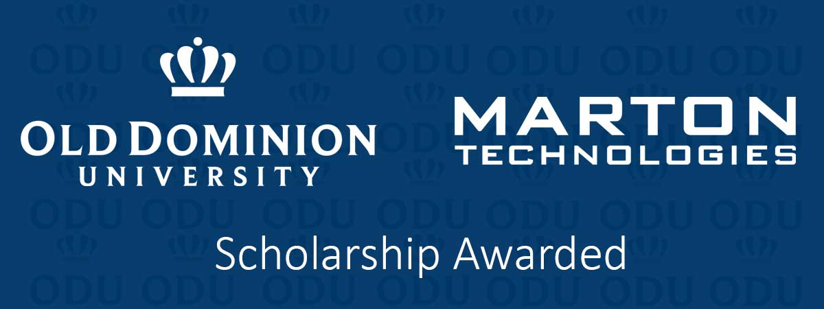 Old Dominion University Marton Scholarship Awarded