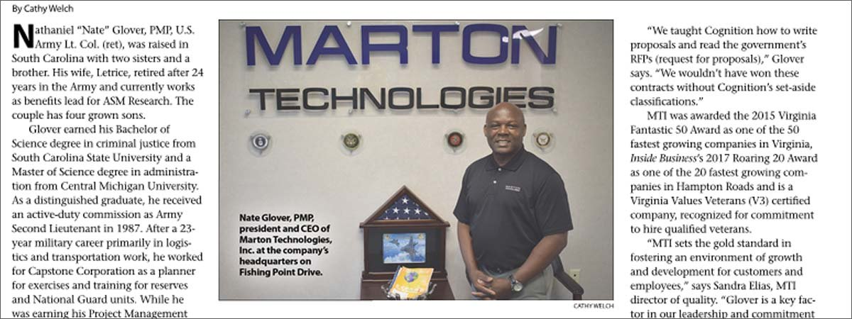 Marton Featured in Oyster Pointer Magazine